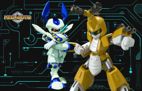 D-Arts Metabee and Rokusho Wallpaper by Mega-X-stream