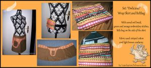 Set -Owlicious- Wrap Skirt and Beltbag by Costumy