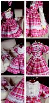 Pink Plaid Sweet Lolita by Nezumi-chuu