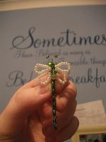 Homemade Dragonfly bobby pin by UndertakerisEpic