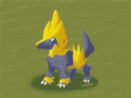 Request - Shiny Manectric by Liefesa