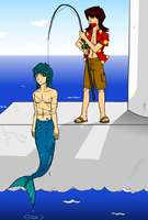 Merman Bondage XD by SmudDragon