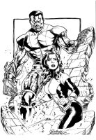 Colossus and Kitty by Buchemi