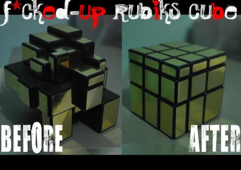 Fcuked-up rubik's cube by meia013
