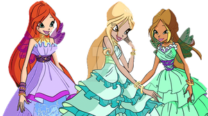 PNG Bloom, Daphne and Flora Domino Outfit by FloraDesiryYayoi