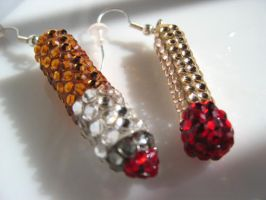 iced cigarette match earrings by pinkminx