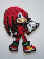 Knuckles Hama Sprite by rinoaff10