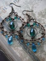 Eastern Filigree  Wire Wrapped earrings by Lirimaer86