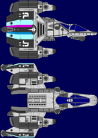 Gunstar Class Starfighter by captshade