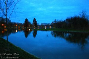 Titan lake in the evening by csifer