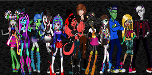 My twelve Monsters by cammie3267