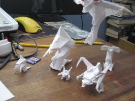 The Origami Zerg Line-Up by derikvyreflame