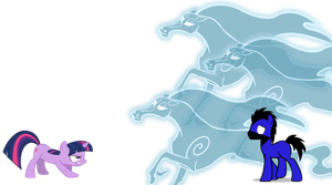 Twilight Sparkle vs Shadow Freeze by icebrony