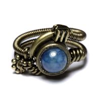 Blue Steampunk apparatus ring by CatherinetteRings