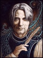 Lord of the Flies (Mads Mikkelsen) by AshMarach