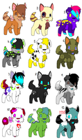 Adoptable batch-10 POINTS EACH by SpunkyAdopts