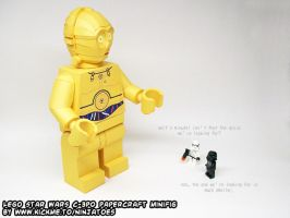 This *is* the papercraft C-3PO you're looking for! by ninjatoespapercraft