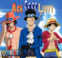 ASL - Ace Sabo Luffy (part 2) - Lineart Colored by DennisStelly