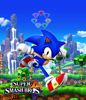 Super Smash Bros. Wii U / 3DS - Sonic the Hedgehog by Legend-tony980