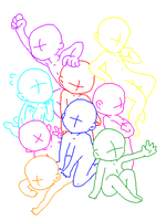 GB Pile of Chibis by SunnyBearBases