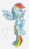 Rainbow Dash in Colour! by Smoking-mist