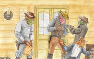 Old fashion bank-robbery by SteinWill