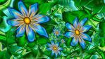 Blue Flowers on the Vine by wolfepaw
