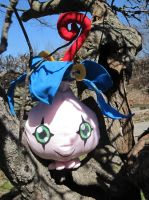 Yokomon in a tree by Naehmaschine