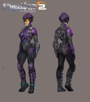 Vanu Sovereignty female engineer by Hebime