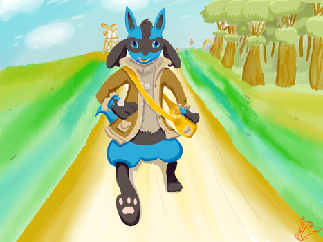 Steve the Lucario (no Outlines) by Steve-the-Lucario