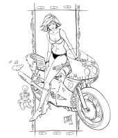 Bike Girl by IBGraham