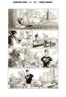 Adventure Comics 1 pg 1 by manapul