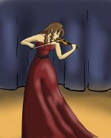 The Violinist by TheInfernalDemon