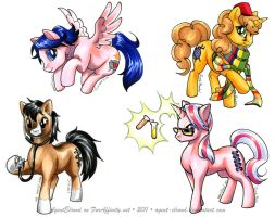 Pony Badges by GoldeenHerself
