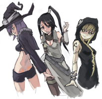 soul eater girls v2 by riftgarret