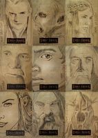 Lord of the Rings sketch cards by sarahwilkinson