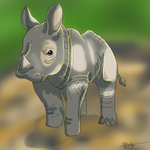 Rhino Sketch by Firestar37406