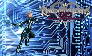 Kingdom Hearts 3D Wallpaper: Riku (Tron) by AzuraJae