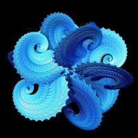 Spatial Interlocking Spirals by hypnogoddess