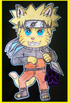 Giant Naruto Wall Cut-Out (Traditional) by PurpleAlphaWolf