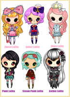 Lolita Collab Competition Adopts CLOSED by coolkatadopts