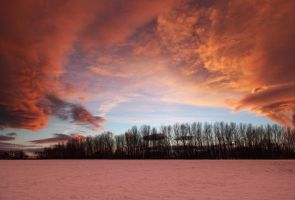 Winter Sunset by scotto