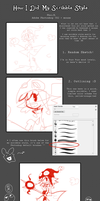 How I Did My Scribble Style Tutorial by PhuiJL