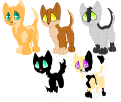Moar Point adoptables! CLOSED by Chaosaholic