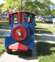 Front of Train Ride Elmo is in the Background by Dygyt-Alice
