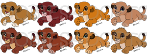 Closed Free Lion Cubs 2 by Oobiesadopts