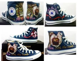 Blue Twilight Converse Hi-tops by alcat2021