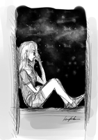 Doodle ft. the Night Sky by Karnehhh