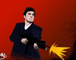 scarface painting by fromthe80s