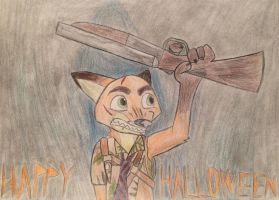 Nick Wilde'a Halloween Special by EJLightning007arts